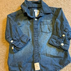 Carter's 6 month jean shirt